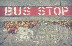 Bus Stop Sign Stock Photo