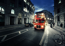 Old bus on street Royalty Free Stock Image