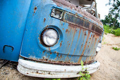 Old Bus. A old Volkswagen Bus left to rust in Southern Wisconsin royalty free stock photos