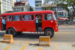 The old bus in Yangon Stock Images