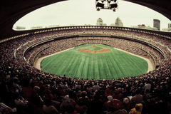 Old Busch Stadium, St. Louis, MO. Vintage look at Old Busch Stadium, St. Louis, MO.  (Image taken from slide Stock Image