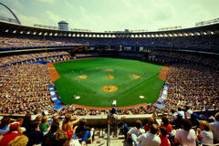 Old Busch Stadium, St. Louis, MO. Royalty Free Stock Photos
