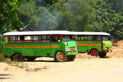 Old Buses Royalty Free Stock Photography