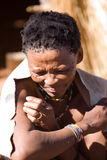 Old bushman woman Stock Images