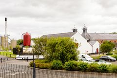 Old Bushmills Whiskey Distillery. BUSHMILLS, NI - JULY 15, 2016: Old Bushmills Whiskey Distillery. It is a popular tourist attraction stock images