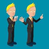 Old Business Man Cartoon Cute Royalty Free Stock Photos