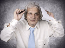 Old Businessman Stock Photos