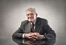Old businessman stock photo