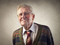 Old businessman royalty free stock images