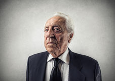 Old businessman royalty free stock image
