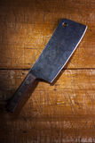 Old butcher's cleaver Royalty Free Stock Photo