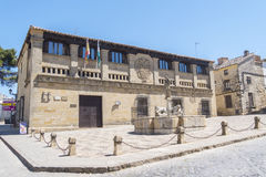 Old butchers, Populo square, Courts actually,  Baeza, Jaen, Spai Royalty Free Stock Photos