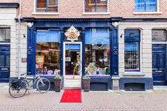 Old butchers shop in the old town of Leiden, Netherlands Stock Photography