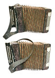 Old button accordion Stock Image