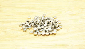 Old button Batteries Royalty Free Stock Photos
