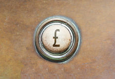 Old button - british pound Stock Photography