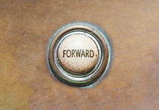Old button - forward Royalty Free Stock Images