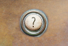 Old button - ? Stock Images
