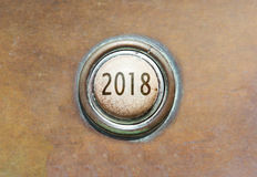 Old button - 2018 Royalty Free Stock Image