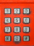 Old button number public telephone Stock Image