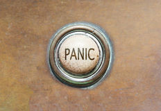 Old button - panic Royalty Free Stock Images