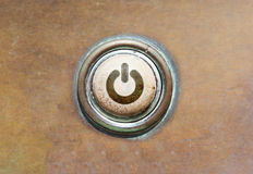 Old button - power Stock Images