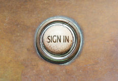 Old button - sign in Royalty Free Stock Photo