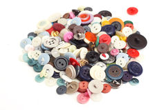 Old buttons. Different colors and shades buttons Stock Photos