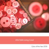 Living Coral Color of the Year, Old Buttons stock image