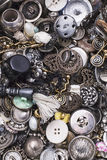Old buttons and buckles Royalty Free Stock Photography