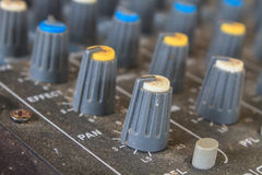 Old buttons equipment audio Royalty Free Stock Image