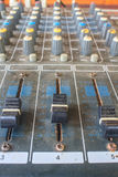 Old buttons equipment audio Royalty Free Stock Images