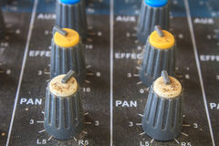 Old buttons equipment audio Royalty Free Stock Photos