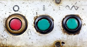 Old Buttons. Buttons from old mechanical machine Royalty Free Stock Image