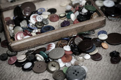 Old buttons. Buttons. Shallow depth of field Royalty Free Stock Images