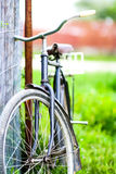 Old bycicle. Close up of old bycicle Royalty Free Stock Images