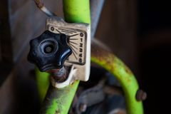 Old Bycicle  Speed Switch Royalty Free Stock Photo