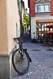 Old Bycicle in Zurich Streets Royalty Free Stock Photography