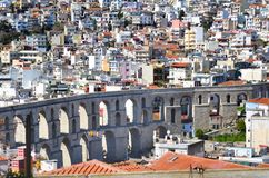 Panoramic cityscape of Kavala,Greece from above royalty free stock photos