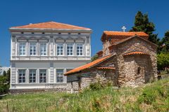Old Byzantine church in the historic centre of Ohrid town Royalty Free Stock Photography