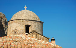 Old byzantine church of Monemvasia town,Greece Stock Photo