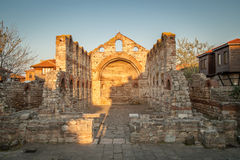 Old Byzantine church in Nessebar, Bulgaria. Stock Photos
