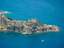 Old Byzantine fortress in Corfu. Aerial view of the Old Byzantine fortress in Corfu, Greece Royalty Free Stock Image
