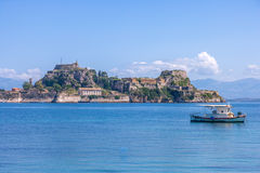 Old Byzantine fortress in Corfu. Greece Royalty Free Stock Photography