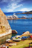 Old Byzantine fortress in Corfu Stock Photo