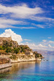 Old Byzantine fortress in Corfu Stock Image