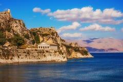 Old Byzantine fortress in Corfu. Greece Stock Photo
