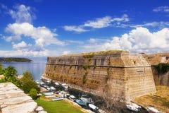 Old Byzantine fortress in Corfu. Greece Royalty Free Stock Photo