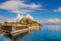 Old Byzantine fortress in Corfu Royalty Free Stock Images