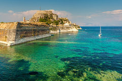 Old Byzantine fortress in Corfu, Greece Royalty Free Stock Photography